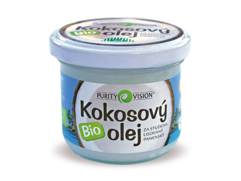 PURITY VISION Bio kokosový olej 100 ml.