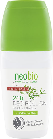 NEOBIO Deodorant roll-on 24/7 Bio Oliva a Bambus 50 ml.