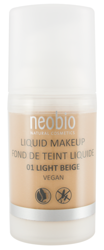 NEOBIO Tekutý Make up 01 Light Beige 30 ml.