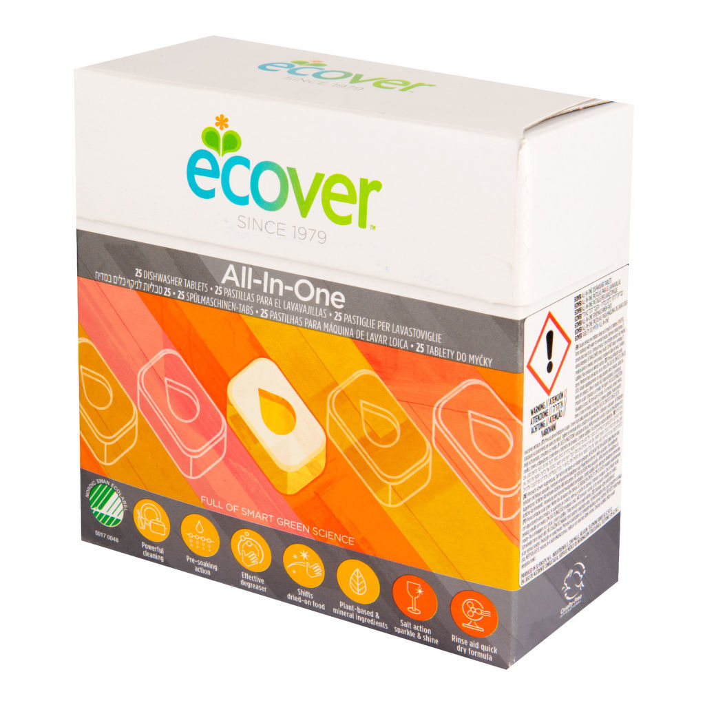 ECOVER Tablety do myčky All in one 25 tablet - 500 gr