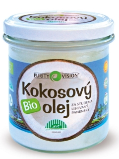 PURITY VISION Bio kokosový olej 360 ml.