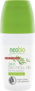 NEOBIO Deodorant roll-on 24/7 Bio Oliva & Bambus 50 ml.
