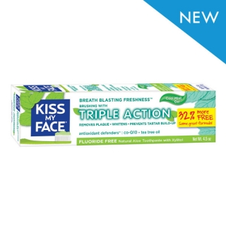 Aloe Vera bio zubní gel Triple action - trojitý účinek 127 gr. - Kiss My Face
