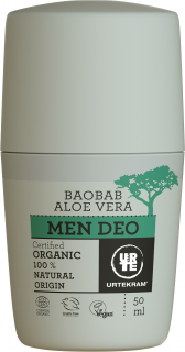URTEKRAM Deodorant MEN Baobab - 50 ml.