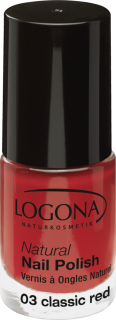 LOGONA Lak na nehty No. 03 CLASSIC RED 4 ml.