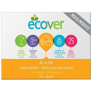 Ecover tablety do myčky All in one 500 gr - 25 tablet